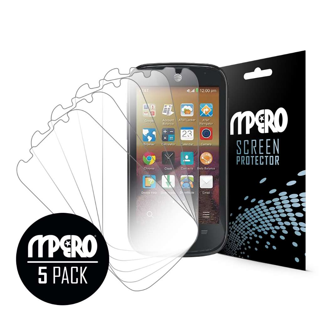 ZTE Compel MPERO 5 Pack of Ultra Clear Screen Protectors