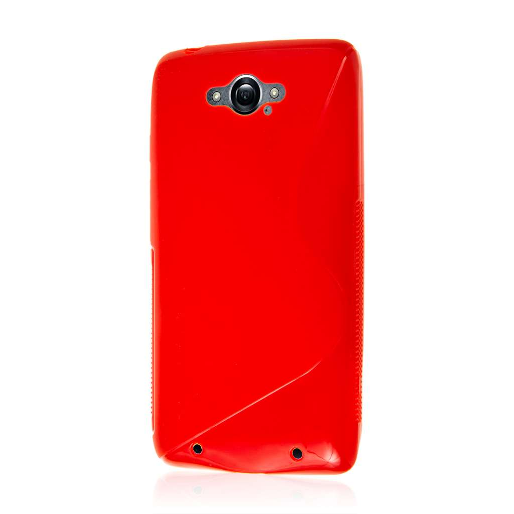 Motorola DROID TURBO - Red MPERO FLEX S - Protective Case Cover