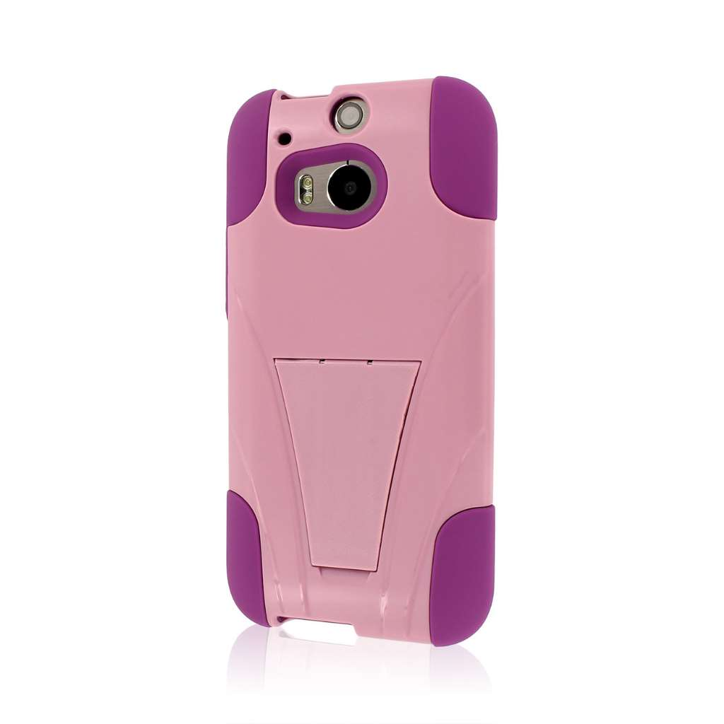 HTC One M8 - Pink MPERO IMPACT X - Kickstand Case Cover