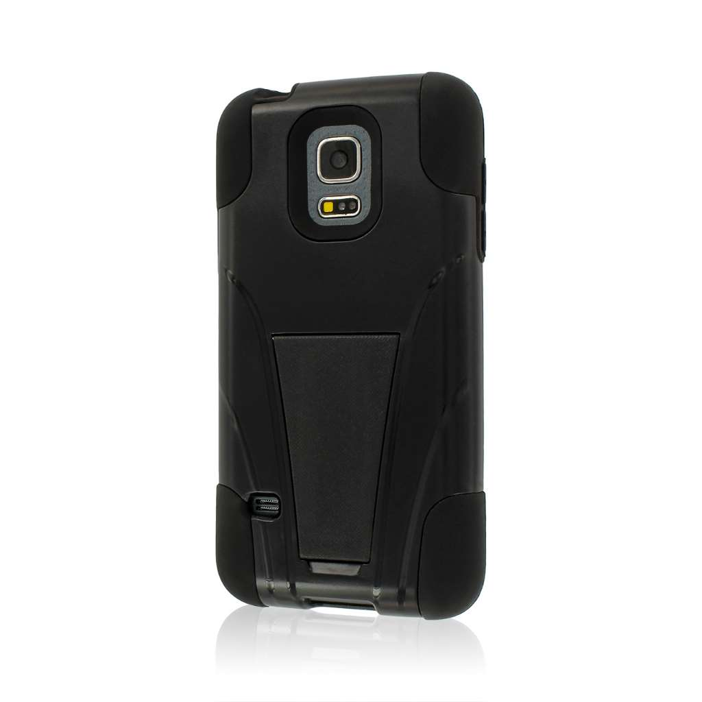 Samsung Galaxy S5 Mini - Black MPERO IMPACT X - Kickstand Case Cover