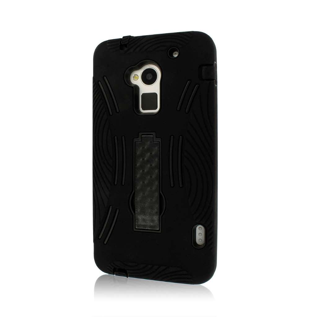 HTC One Max T6- black MPERO IMPACT XL - Kickstand Case Cover