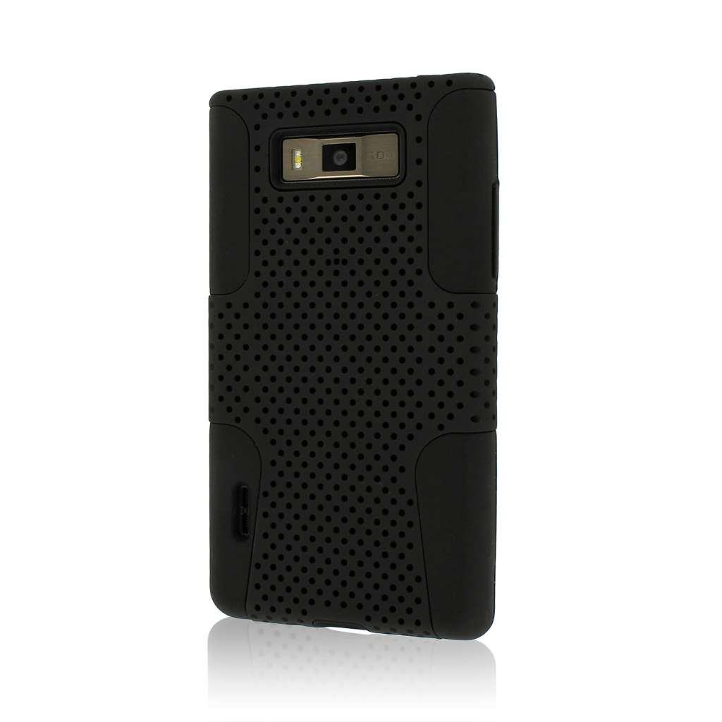 LG Venice / Splendor US730 - Black MPERO FUSION M - Protective Case Cover