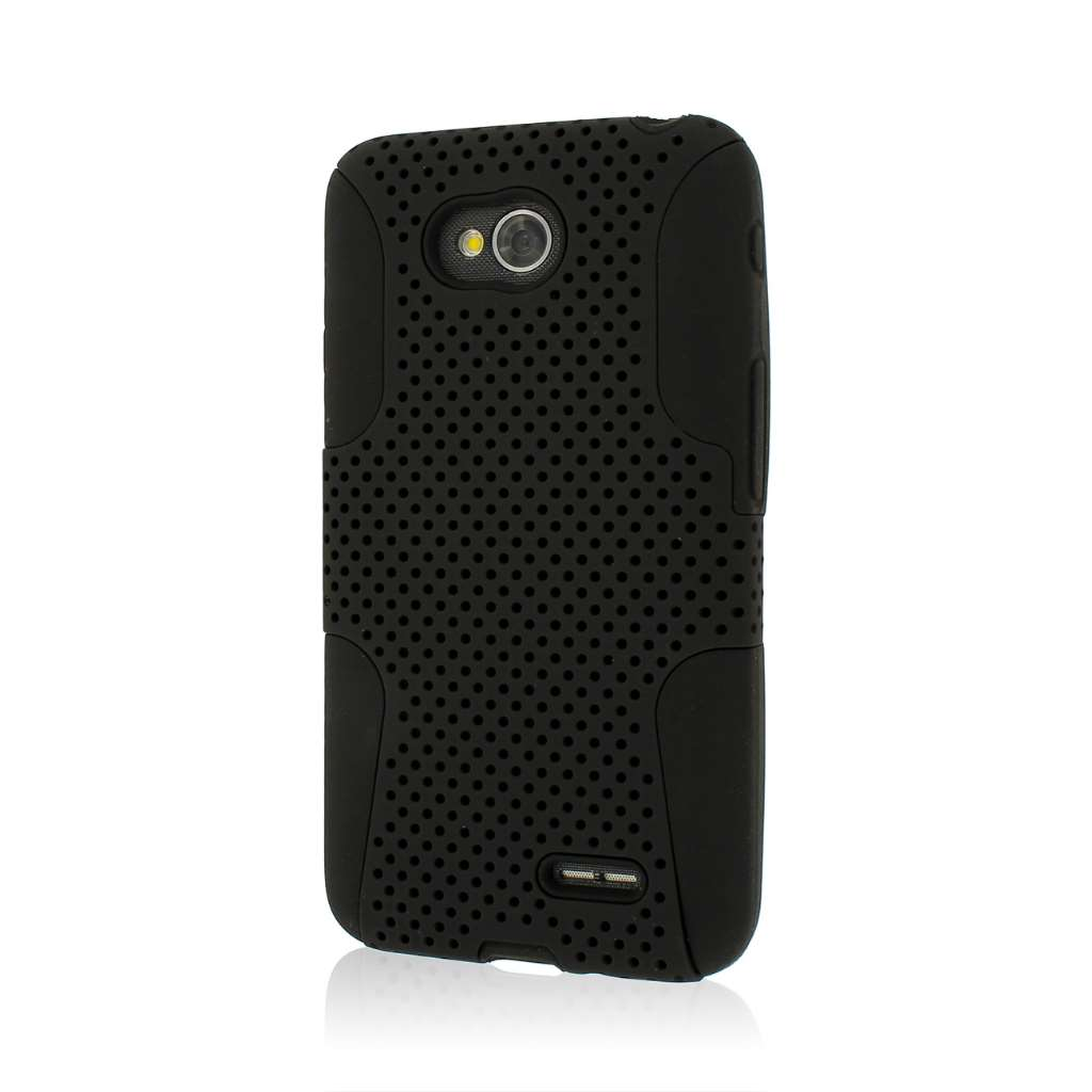 LG Optimus L70 - Black MPERO FUSION M - Protective Case Cover