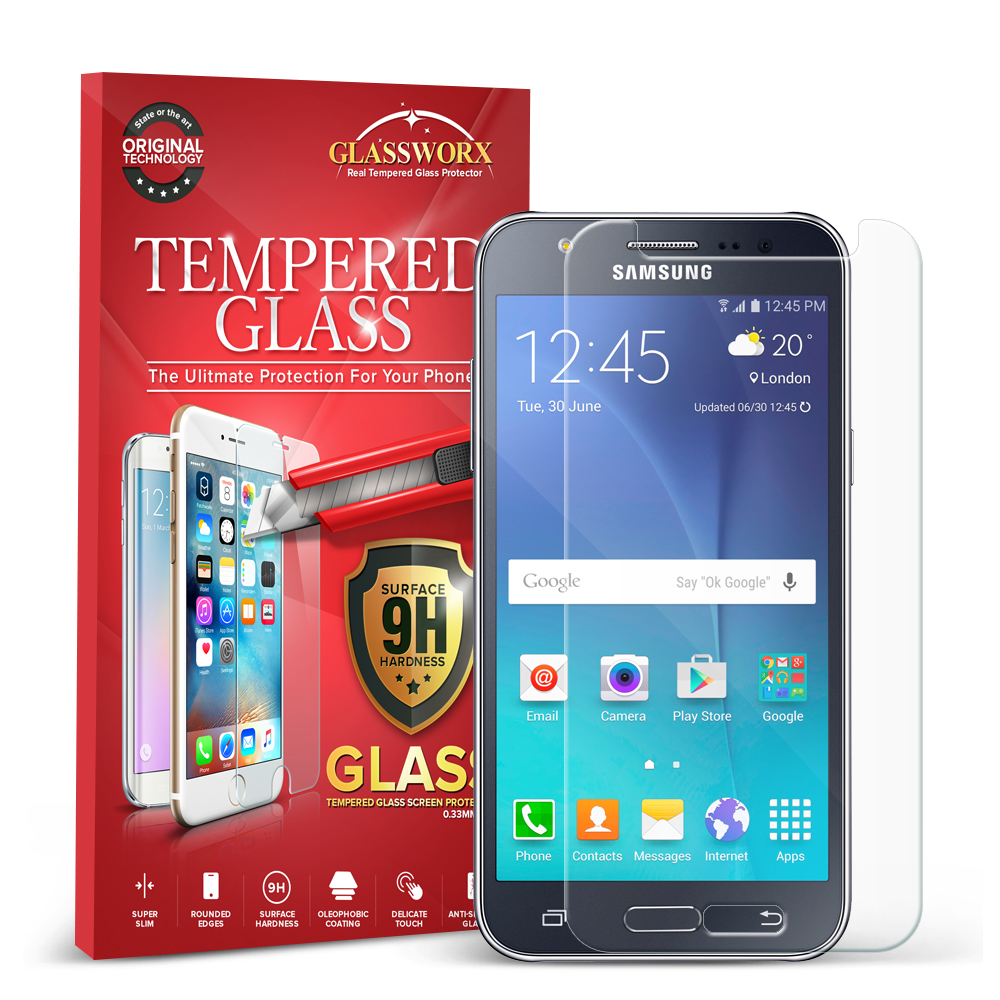 Samsung Galaxy J7 Clear GlassWorX HD Tempered Glass Screen Protector