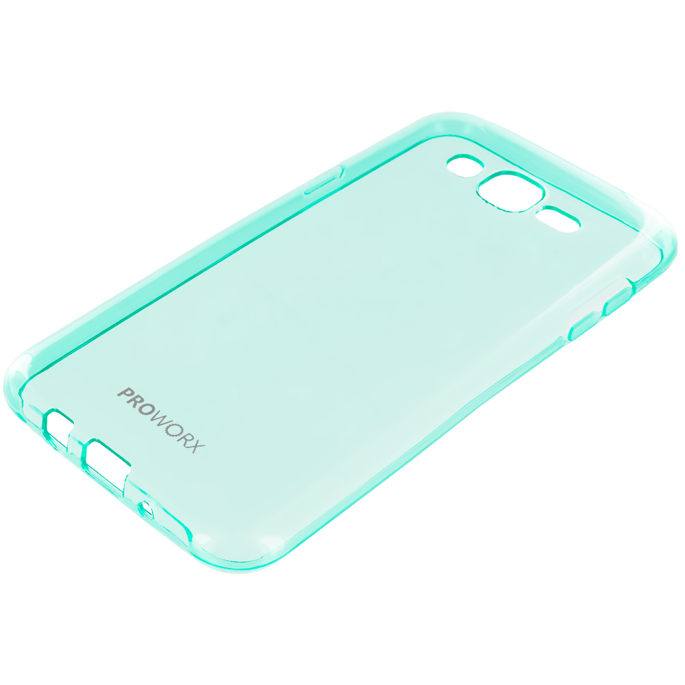 Samsung Galaxy J7 Mint Green ProWorx Ultra Slim Thin Scratch Resistant TPU Silicone Case Cover