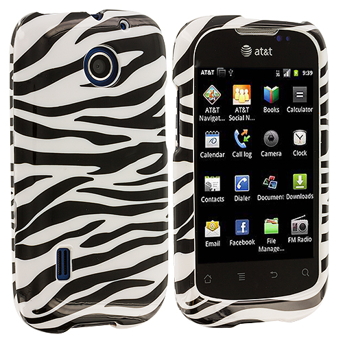 Huawei Fusion U8652 Black / White Zebra Design Crystal Hard Case Cover