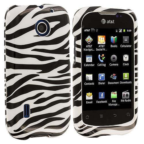 Huawei Fusion U8652 Black / White Zebra Design Crystal Hard Case Cover
