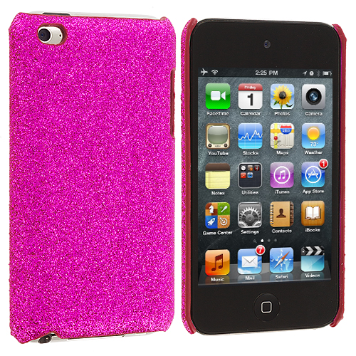 Apple iPod Touch 4th Generation Hot Pink Glitter Case Cover