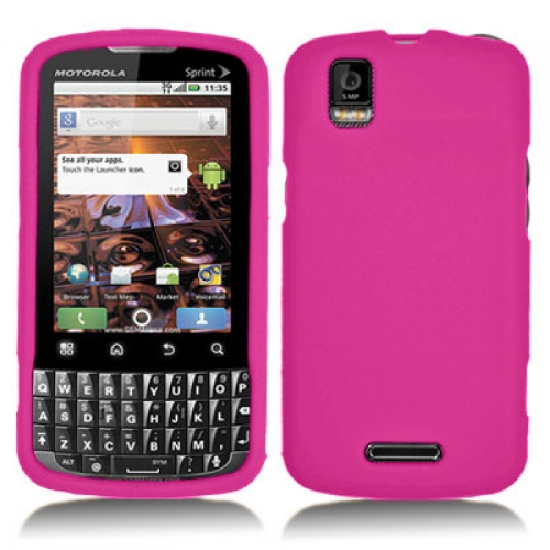 Motorola Xprt Hot Pink Silicone Soft Skin Case Cover