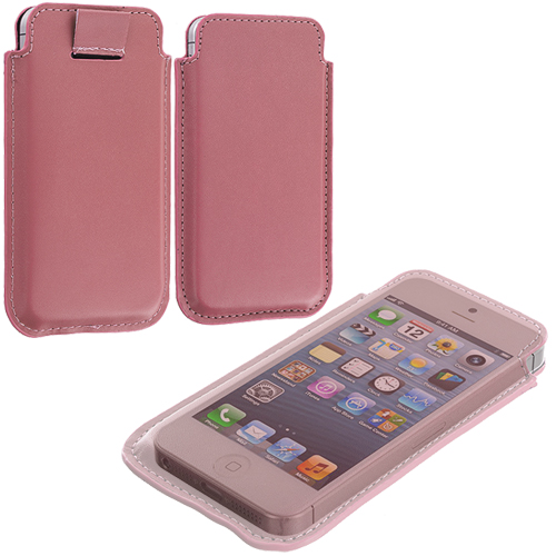 Apple iPhone 5/5S/SE Combo Pack : Pink Sleeve Pouch : Color Pink