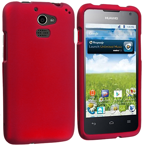 Huawei Premia 4G Red Hard Rubberized Case Cover