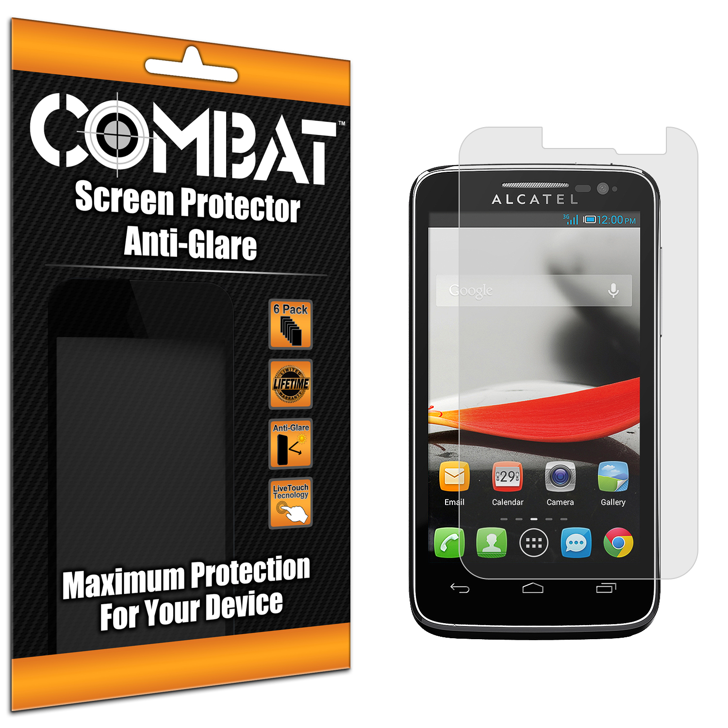 Alcatel One Touch Evolve 5020T Combat 6 Pack Anti-Glare Matte Screen Protector