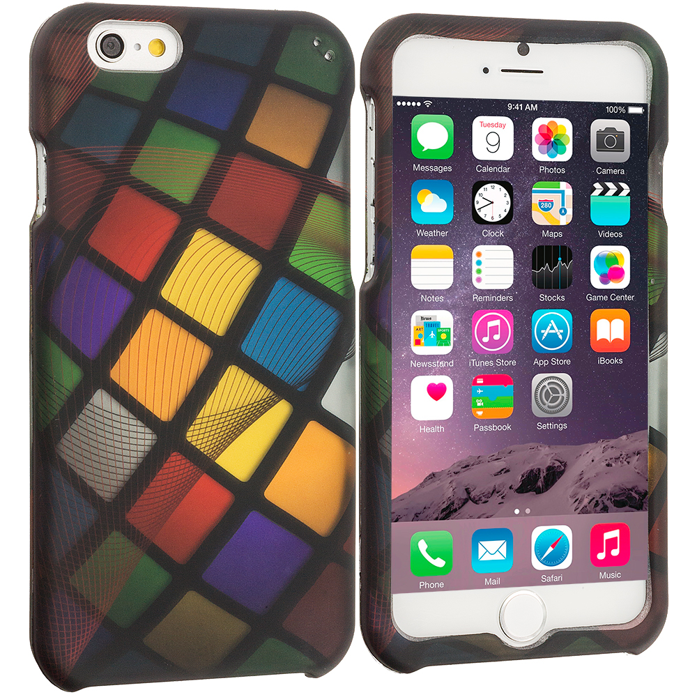 Apple iPhone 6 6S (4.7) Color Ball 2D Hard Rubberized Design Case Cover