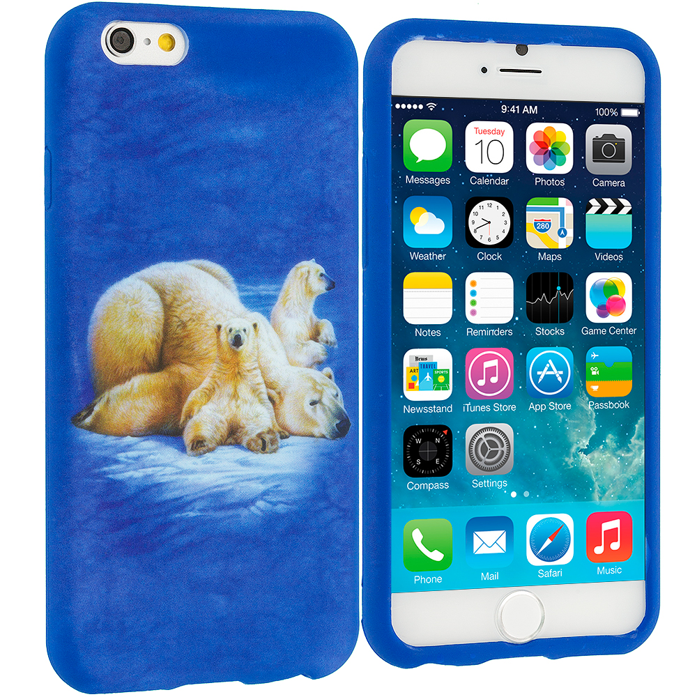 Apple iPhone 6 Plus 6S Plus (5.5) Polar Bear TPU Design Soft Rubber Case Cover