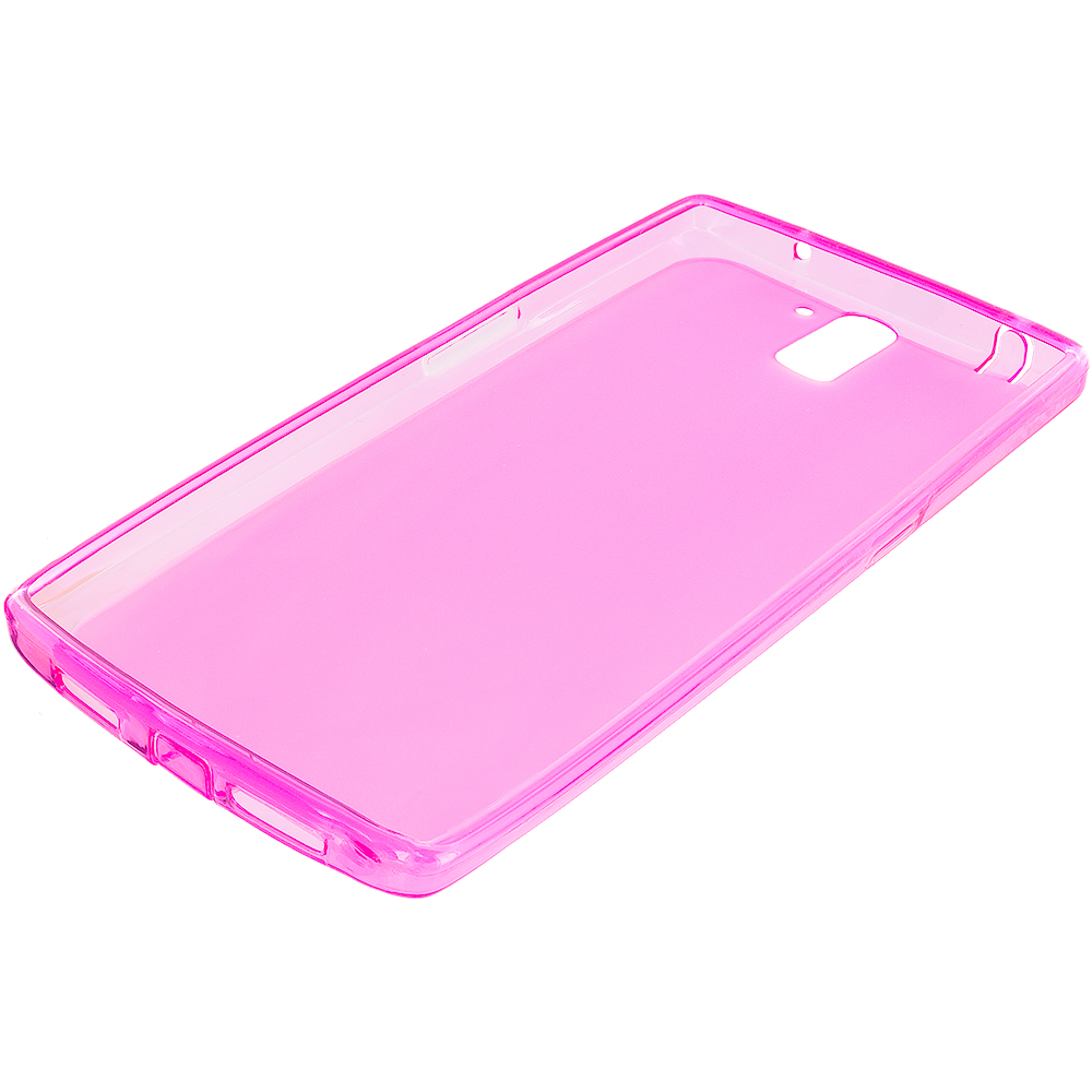 OnePlus One Hot Pink TPU Rubber Skin Case Cover