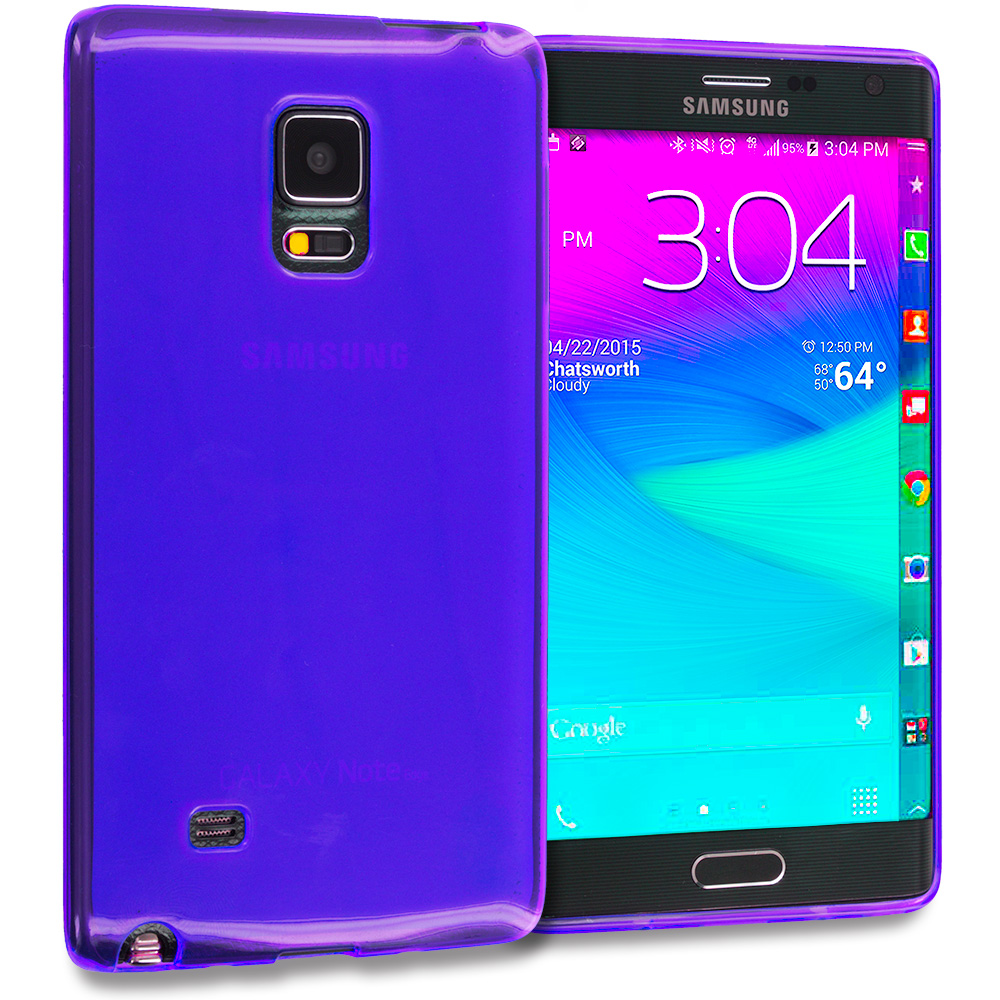 Samsung Galaxy Note Edge Purple TPU Rubber Skin Case Cover