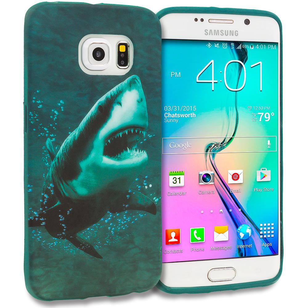 Samsung Galaxy S6 Edge Shark TPU Design Soft Rubber Case Cover