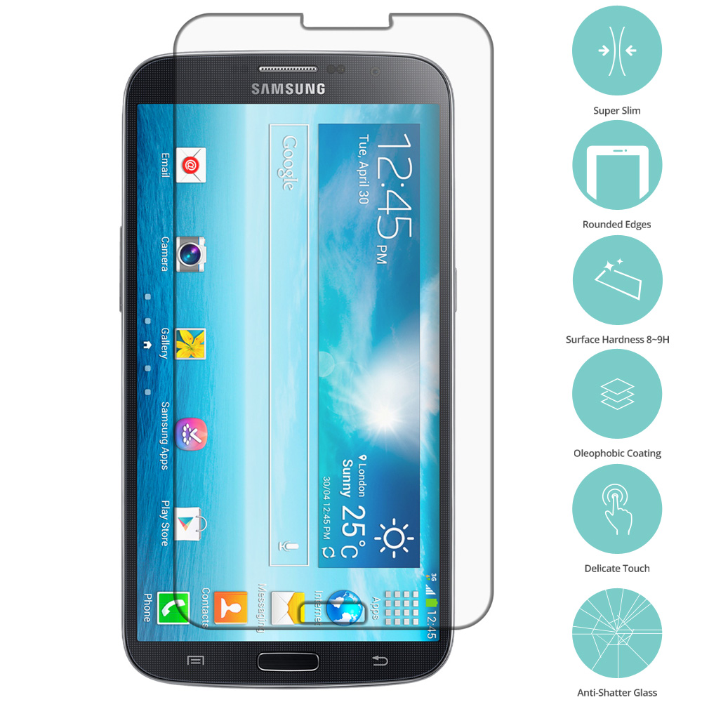 Samsung Galaxy Mega 2 Clear Tempered Glass Film Screen Protector Clear