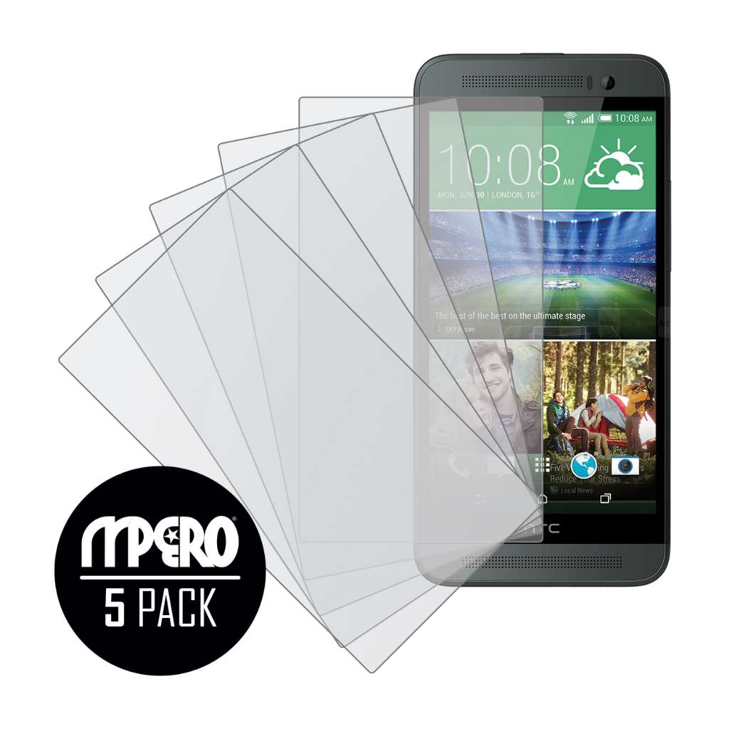 HTC One E8 MPERO 5 Pack of Matte Screen Protectors
