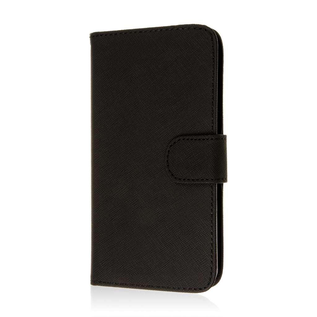 HTC Desire 816 - Black MPERO FLEX FLIP Wallet Case Cover