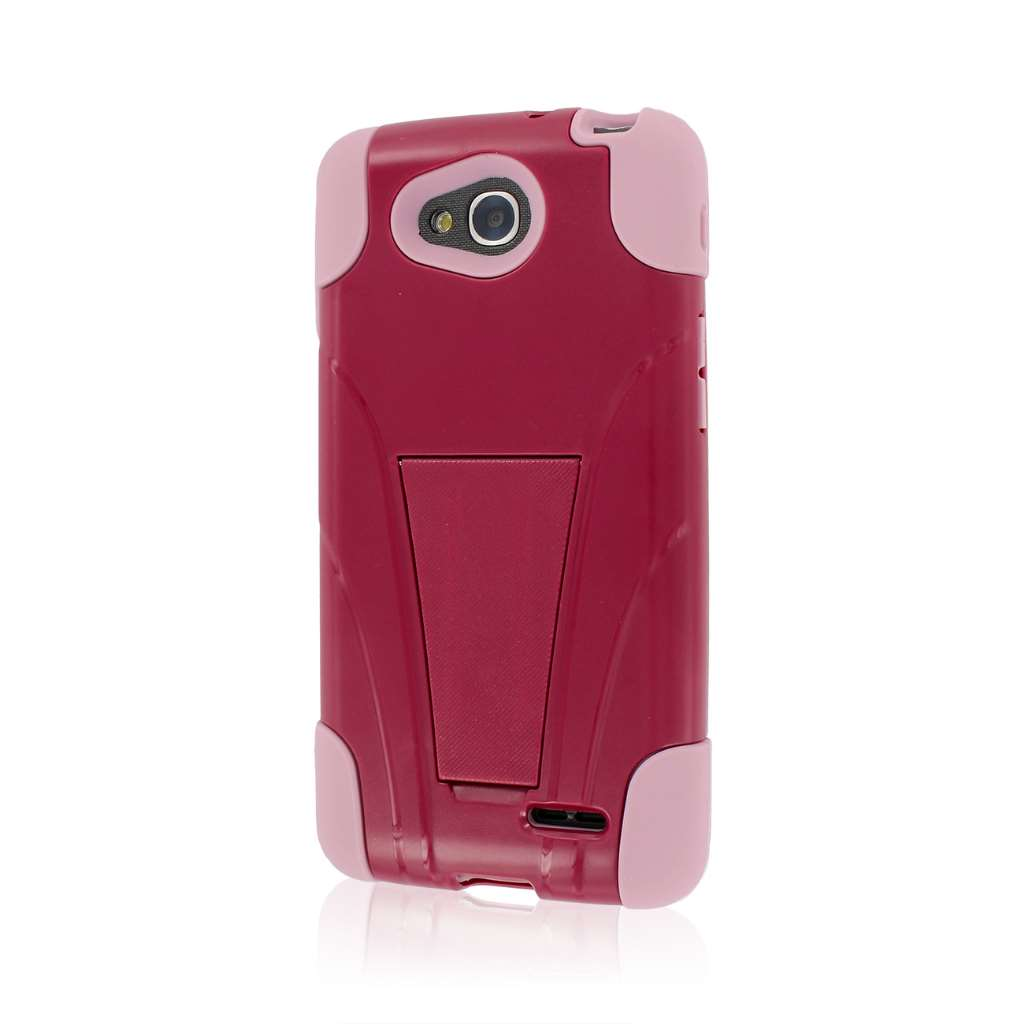 LG Optimus L90 - Hot Pink / Pink MPERO IMPACT X - Kickstand Case Cover