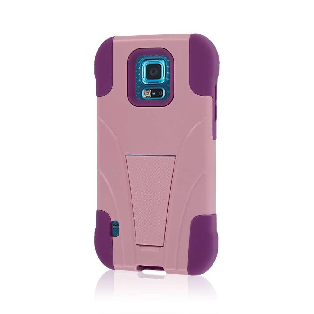 Samsung Galaxy S5 Sport - Pink MPERO IMPACT X - Kickstand Case Cover