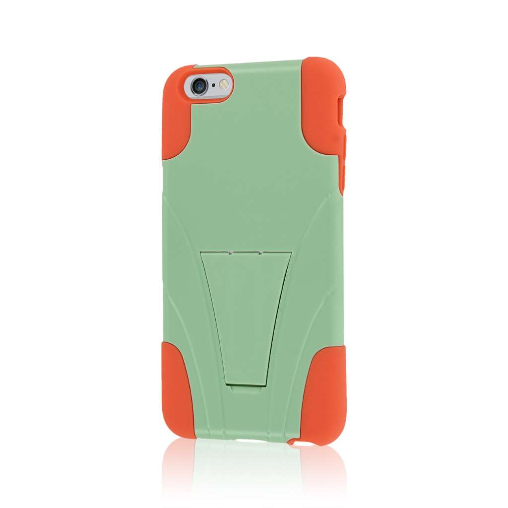 Apple iPhone 6 6S Plus - Coral / Mint MPERO IMPACT X - Kickstand Case Cover