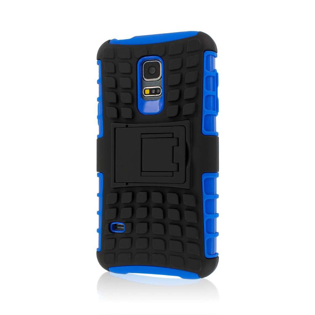 Samsung Galaxy S5 Mini - Blue MPERO IMPACT SR - Kickstand Case Cover