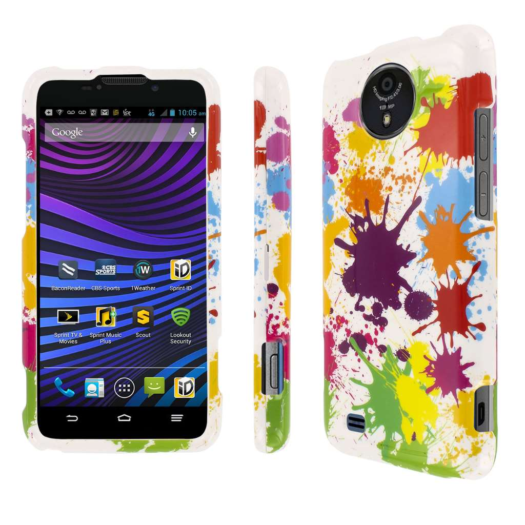 ZTE Vital MPERO Full Protection Paint Splatter White Case Cover