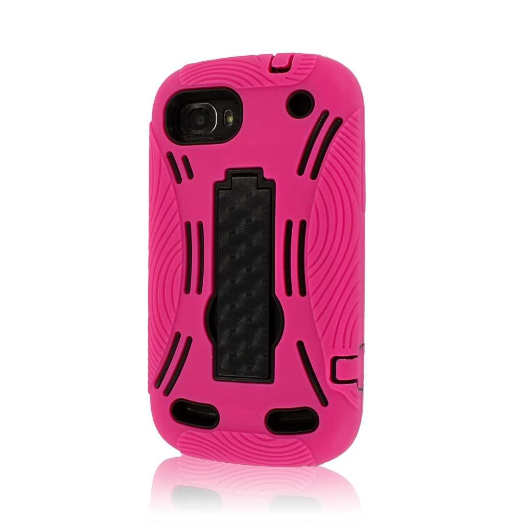 ZTE Warp Sequent N861 - Hot Pink MPERO IMPACT XL - Kickstand Case Cover