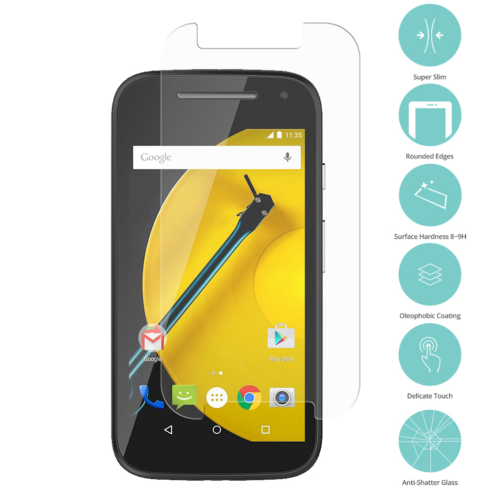 Motorola Moto E Clear Tempered Glass Film Screen Protector Clear