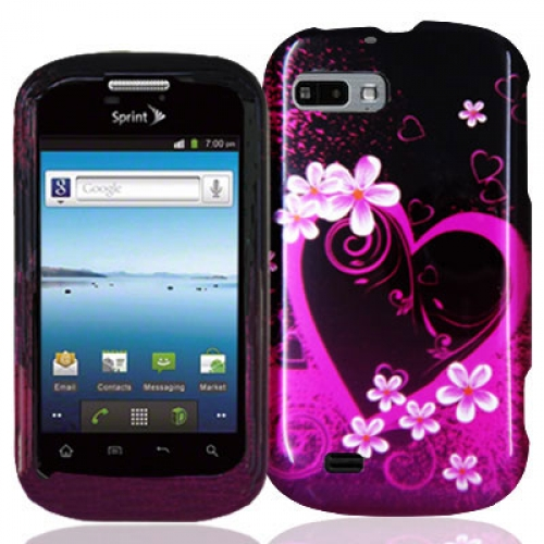 ZTE Fury N850 Purple Love Design Crystal Hard Case Cover