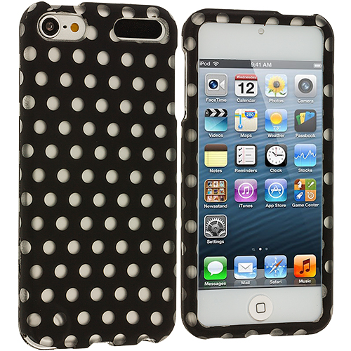 Apple iPod Touch 5th 6th Generation Polka Dot Hard Rubberized Design Case Cover