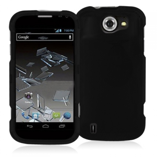 ZTE Flash Black Hard Rubberized Case Cover