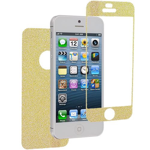 Apple iPhone 5 / 5S Yellow Glittter LCD Screen Protector