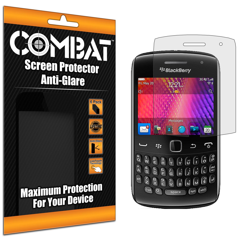 BlackBerry Curve 9350 9360 9370 Combat 6 Pack Anti-Glare Matte Screen Protector