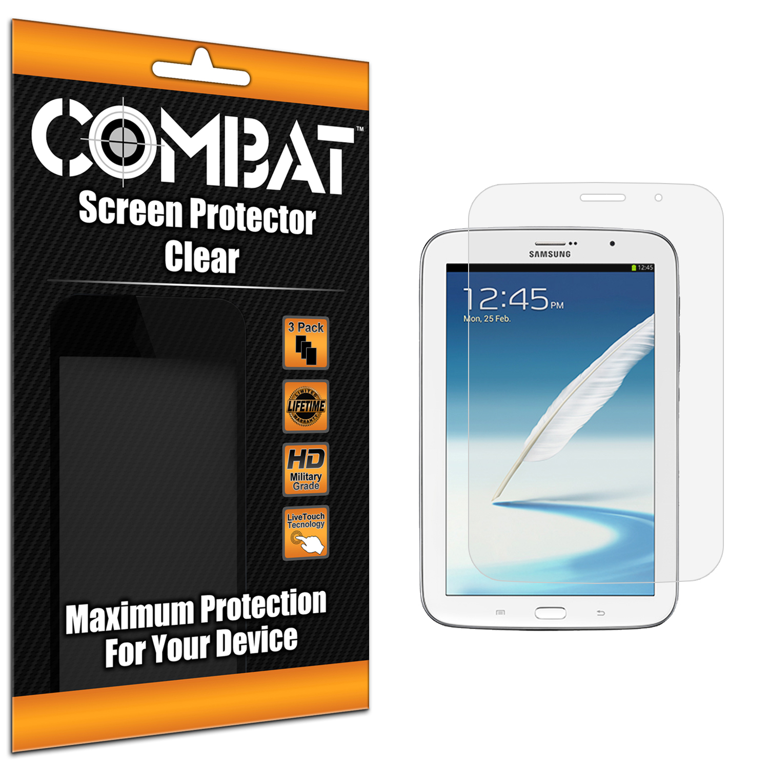 Samsung Galaxy Note 8.0 Combat 3 Pack HD Clear Screen Protector