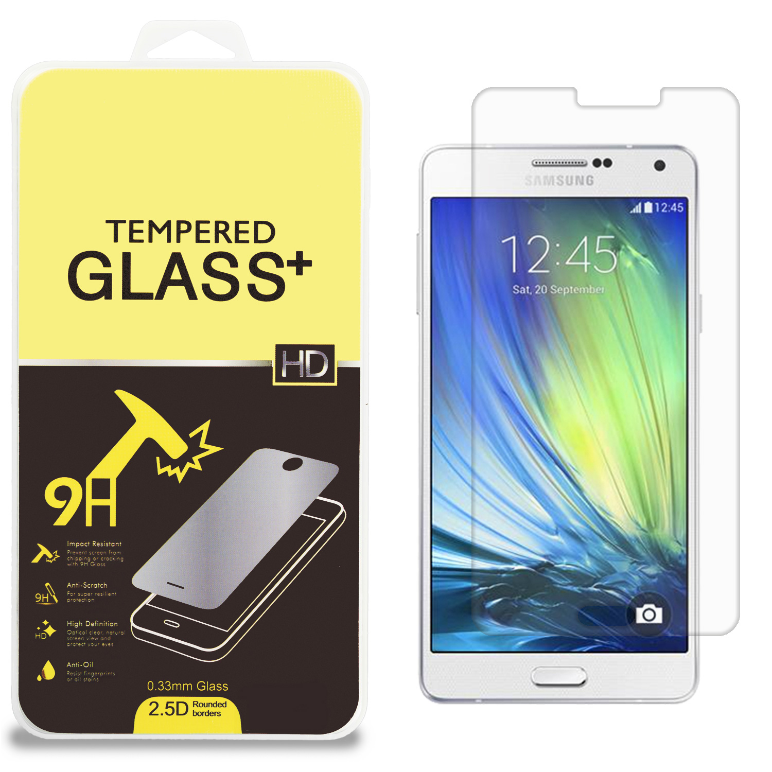 Samsung Galaxy A7 Clear Tempered Glass High Quality 0.33mm LCD Screen Protector