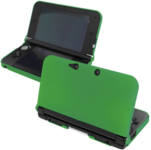 New 2015 Nintendo 3DS XL Dark Green Hard Rubberized Case Cover
