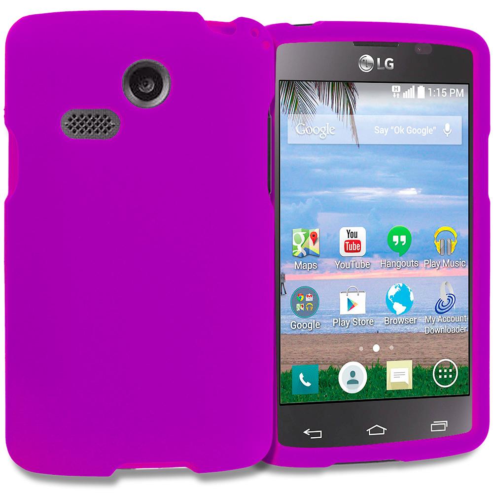 LG Sunrise Lucky L15G L16C Purple Hard Rubberized Case Cover