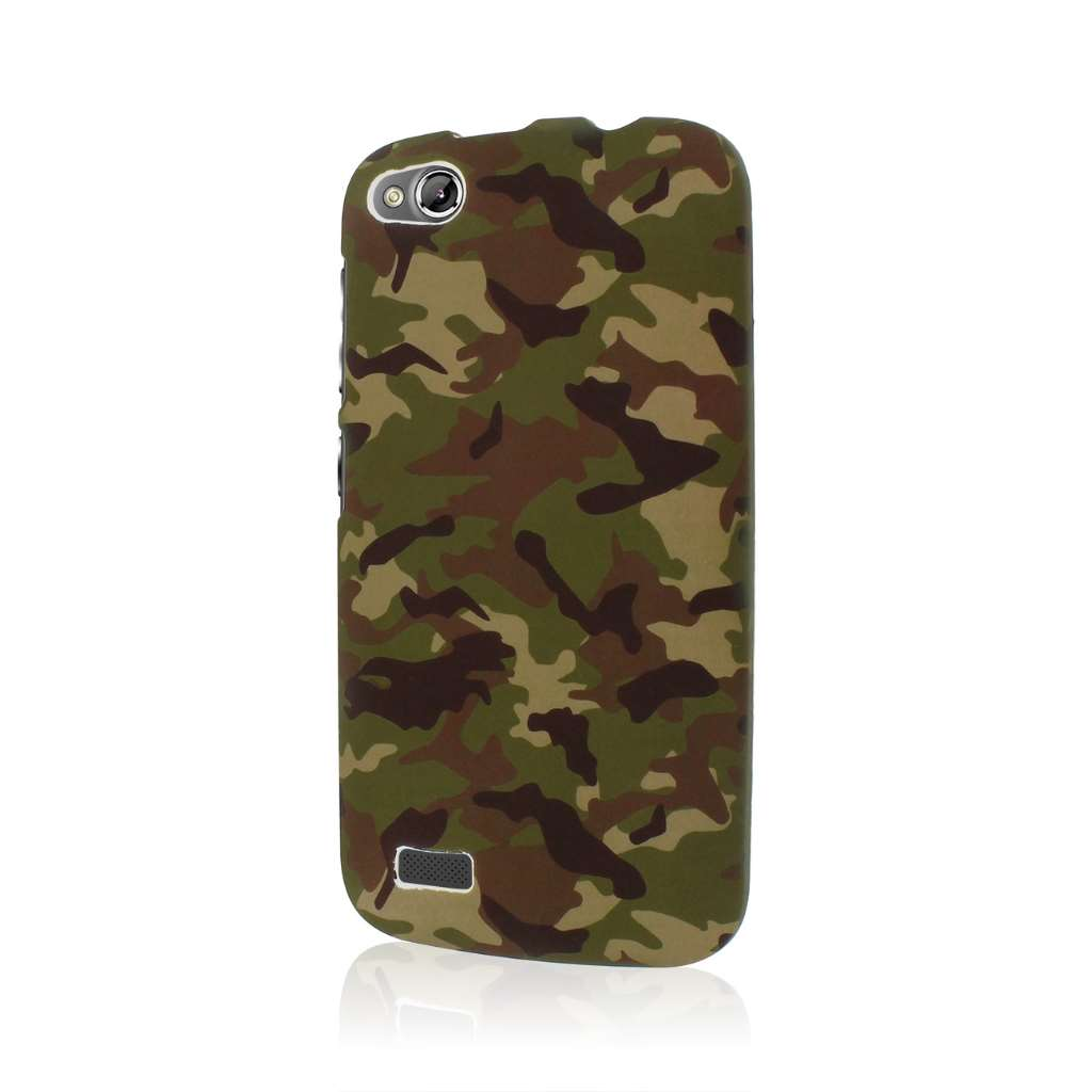 BLU Life Play - Green Camo MPERO SNAPZ - Rubberized Case Cover