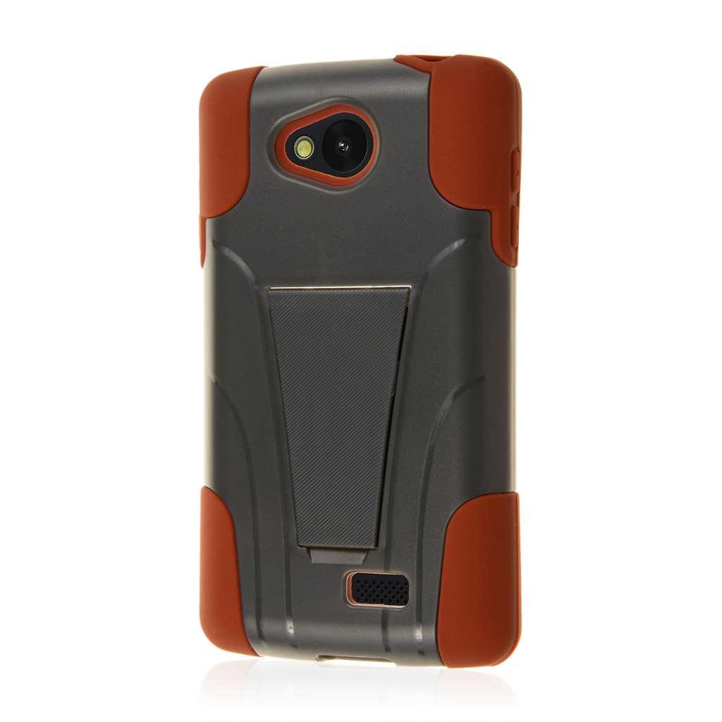 LG F60 - Sandstone / Gray MPERO IMPACT X - Kickstand Case Cover