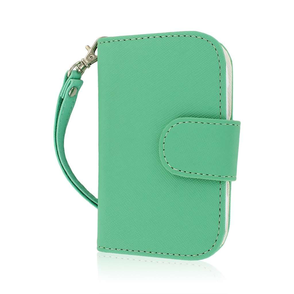 BlackBerry Curve 9310 / 9315 - Mint MPERO FLEX FLIP Wallet Case Cover