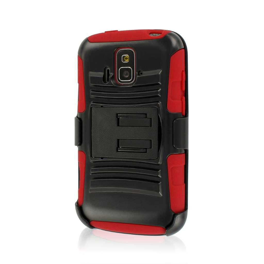 ZTE Radiant / Sonata 4G - Red MPERO IMPACT XT - Kickstand Case Cover