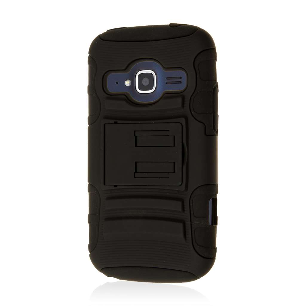 ZTE Concord 2 - Black MPERO IMPACT XT - Kickstand Case Cover