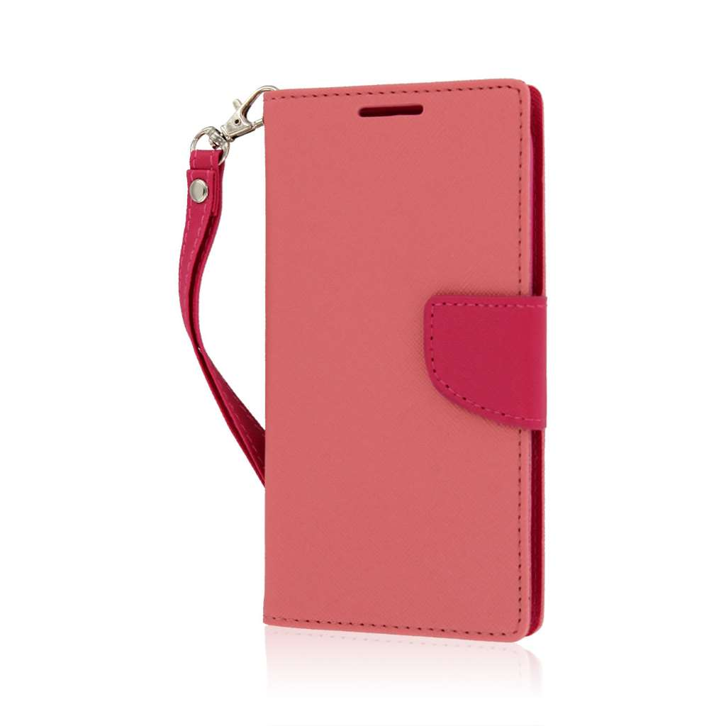 ZTE Grand X - Pink MPERO FLEX FLIP 2 Wallet Stand Case Cover