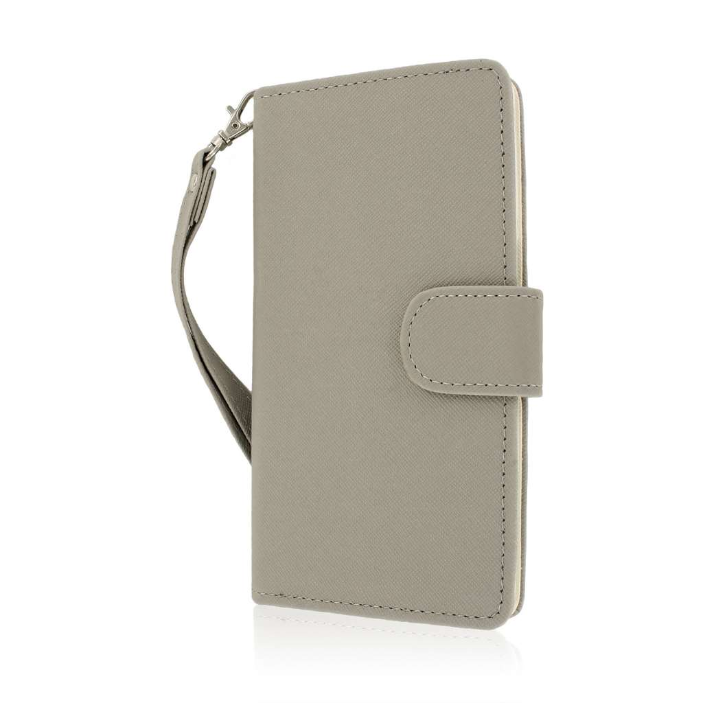 OnePlus One - Gray MPERO FLEX FLIP Wallet Case Cover