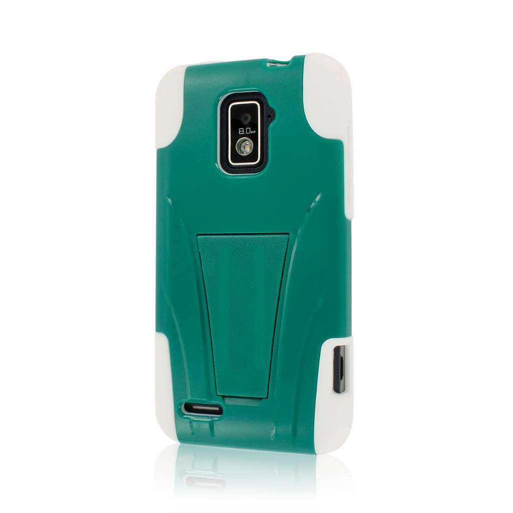 ZTE Warp 4G- TEAL GREEN MPERO IMPACT X - Kickstand Case Cover