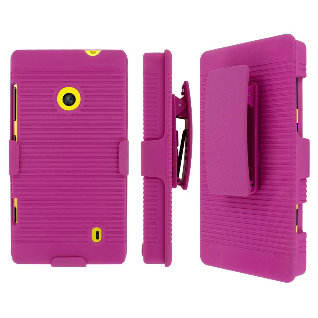 Nokia Lumia 521 MPERO 3 in 1 Tough Kickstand Case Cover