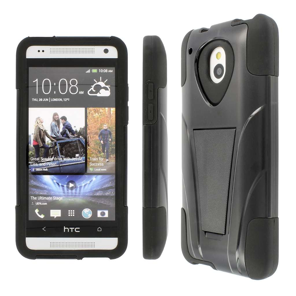 HTC One Mini- BLACK MPERO IMPACT X - Kickstand Case Cover